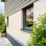 ULTRA triple glazed timber windows at oak frame newbuild Devon