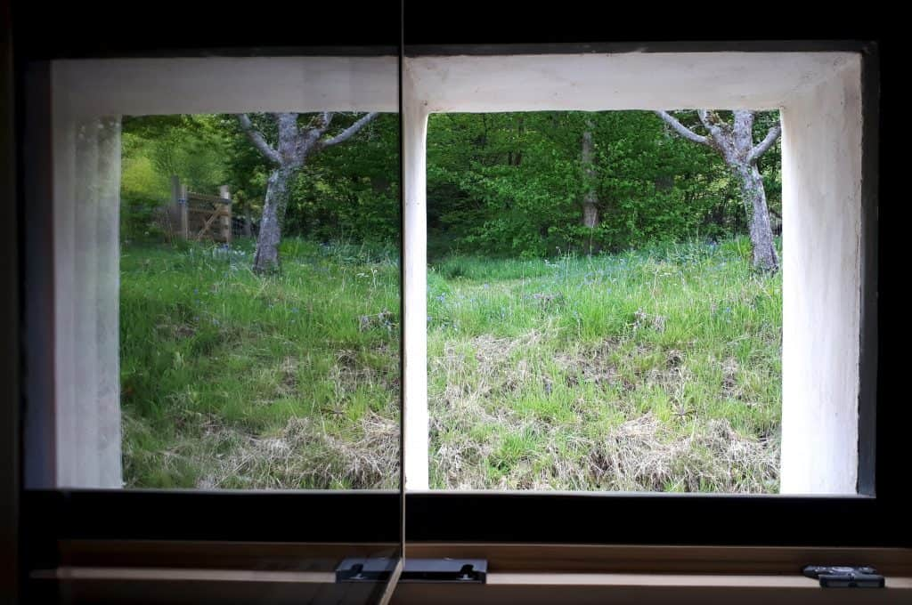 1. Progression windows in my shed conversion The triple reflection on the left shows that it's triple glazing. This was my view during 3 weeks CV19 isolation - recovered now!