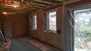 Window installation at Kirkburton Passivhaus