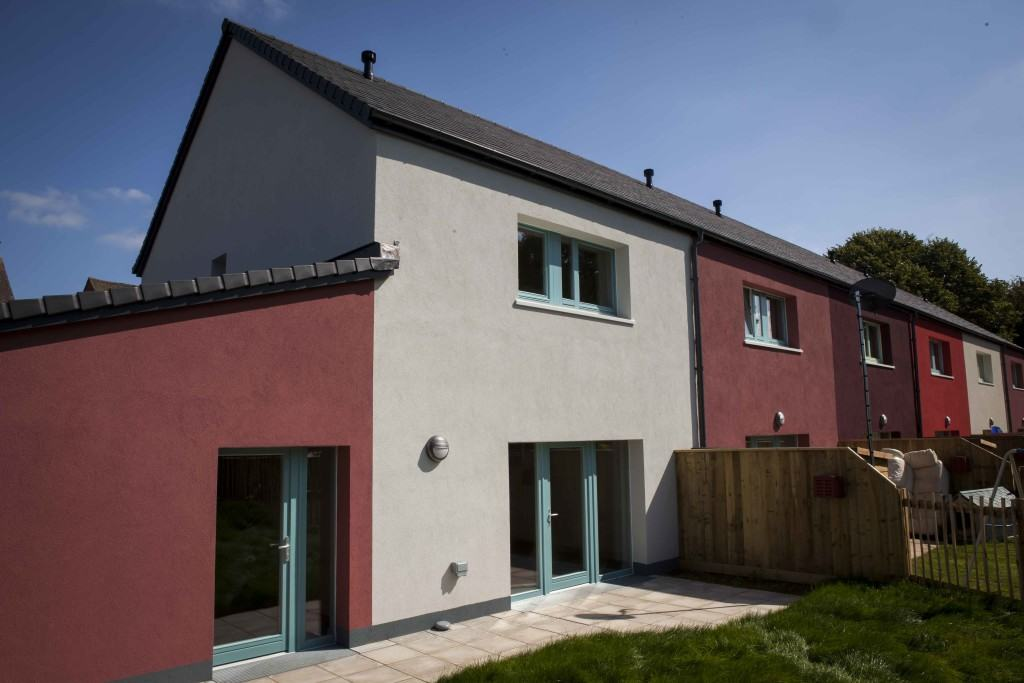Green Building Store Performance windows and doors at Exeter Council Passivhaus social housing project