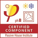 Certified Passivhaus Component window logo