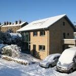 Denby Dale Passivhaus snow