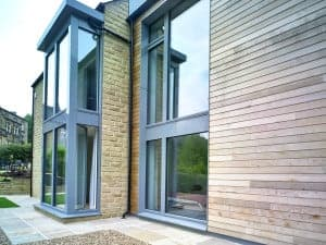 Progression Passivhaus certified timber window at Golcar Passivhaus